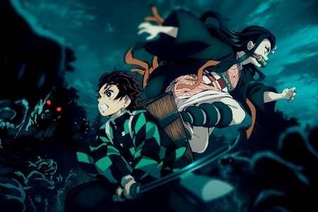 Tanjiro and Nezuko from Demon Slayer