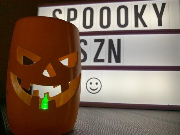 Plastic Halloween pumpkin decor