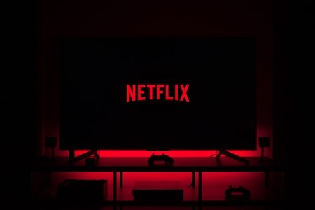 Netflix Screen in Dark Room