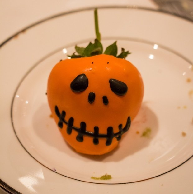Spooky Chocolate Covered Strawberry