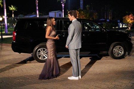 Tayshia and Bennett on The Bachelorette
