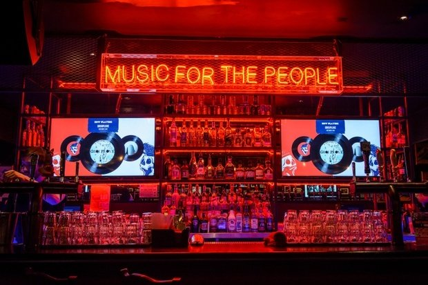 Neon music for the people sign