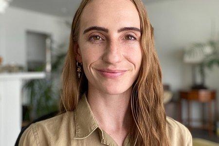 Portrait of Sage Grazer, founder of Frame mental health organization