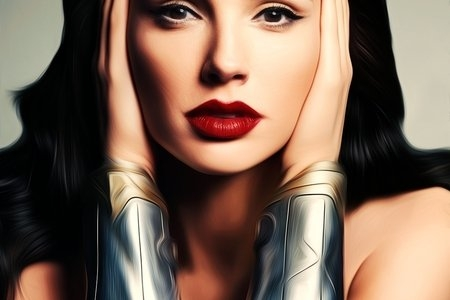 Oil painting of Gal Gadot