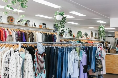 a glimpse inside a thrift store
