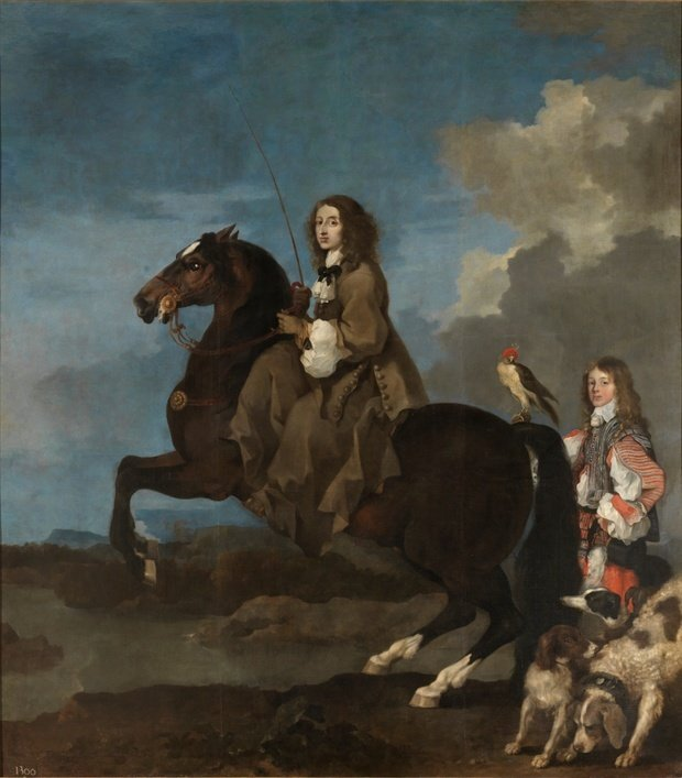Christine of Sweden on Horseback, 1653.