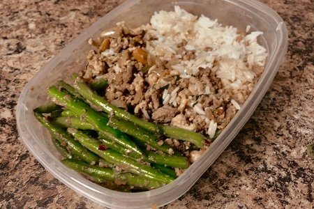 Thai Inspired Basil Chicken with Green Beans