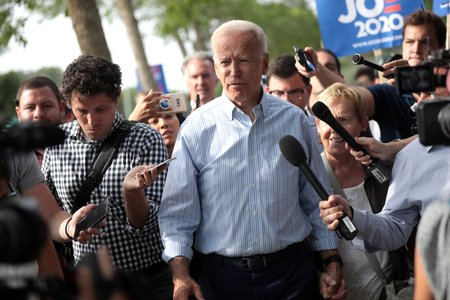 Joe Biden speaking at campaign rally