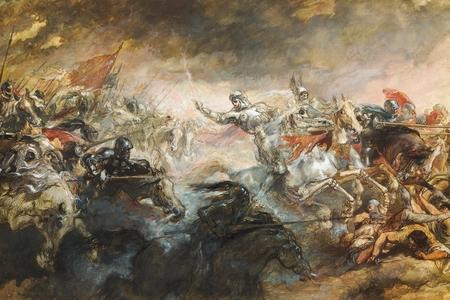 The Phantom Horseman by Sir John Gilbert, 1870-93