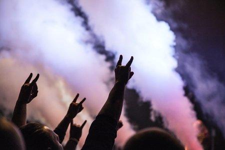 Concert with smoke machine