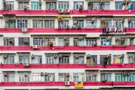 overpopulation, building, Market, Yau Ma Tei, Hong Kong