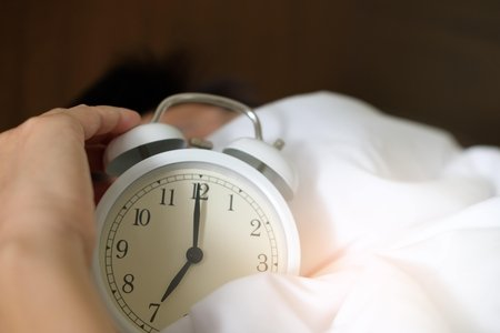 close up of white alarm clock