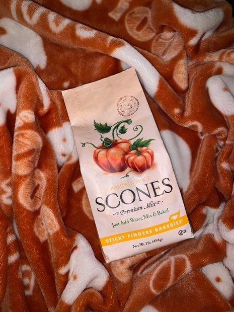 Scone mix on blanket