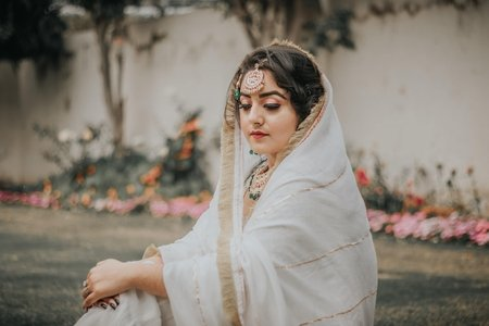Sikh woman in white outfit