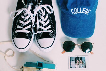 flat lay college hat shop