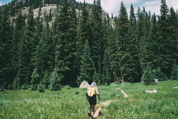 Colorado travel hiking mountains trees nature backpack trail high