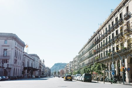 spain barcelona abroad street buildings europe cars landscape pretty city .pdf