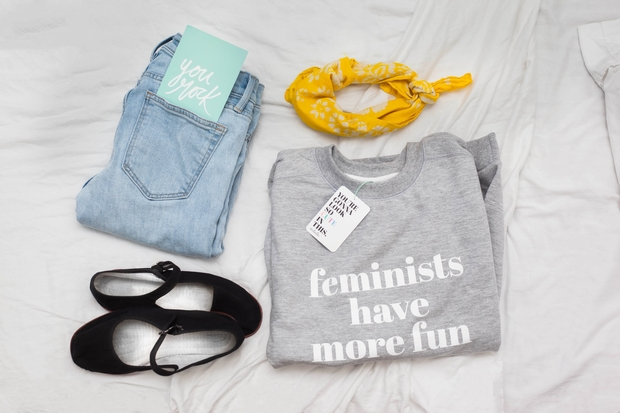 feminists have more fun flatlay 5