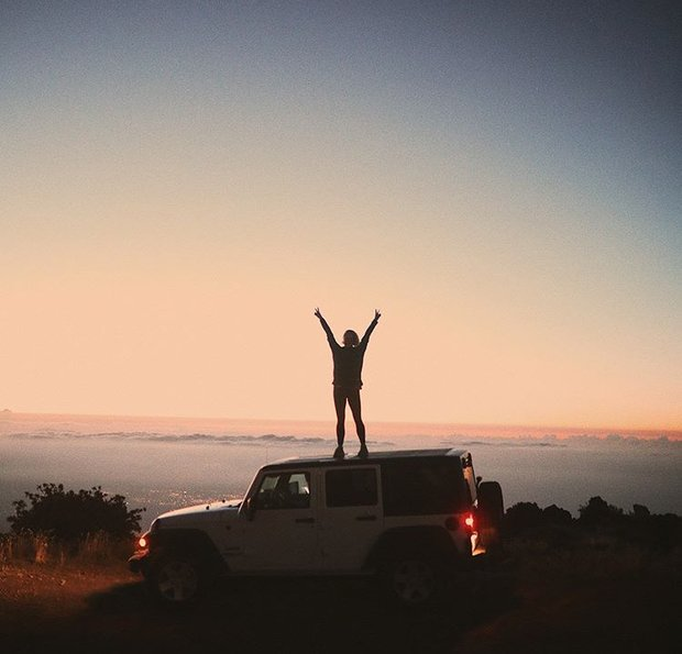 travel adventure sunset jeep road trip