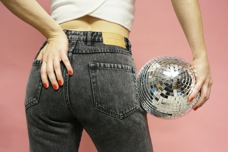 butt disco ball jeans party fun