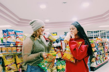 Anna Schultz-Girls In Gas Station With Junk Food