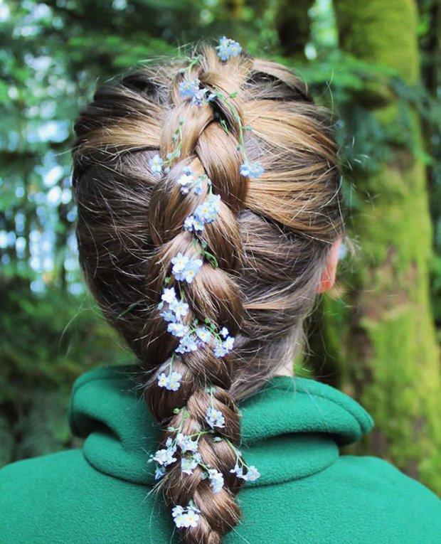 Flowers Hair Nature Braid Natural Floral