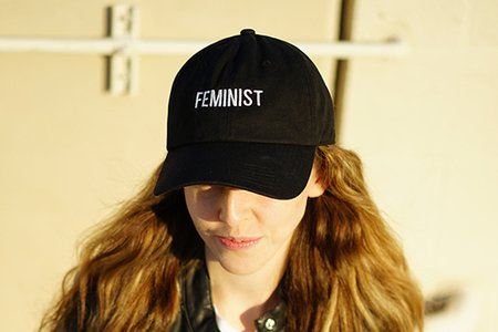 Laura Claypool-Feminist Black Baseball Cap Girl