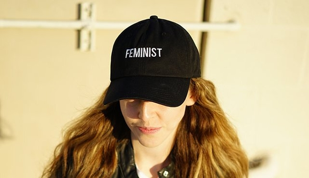 Laura Claypool-Feminist Black Baseball Cap Girl
