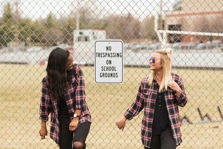 Fun College Girls With Flannels