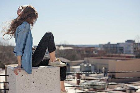 Kristen Bryant-Brandy Melville Inspired Cityscape Girl Hair Flip 6 Cropped