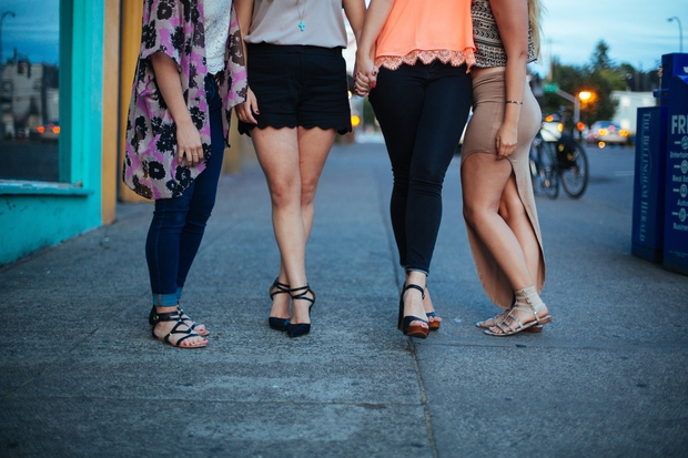 Friends Walking Together 1