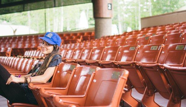 Cameron Smith-Girl Smirk Smile Hat Laid Back Theatre