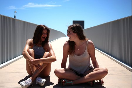 Kellyn Simpkin-Two Girls Sitting