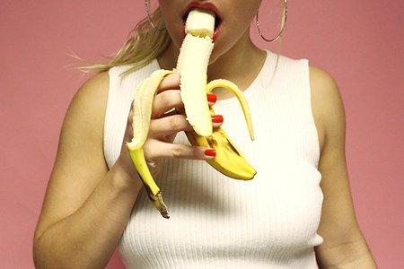 Girl Eating Banana Fruit Hoop Earrings Sex