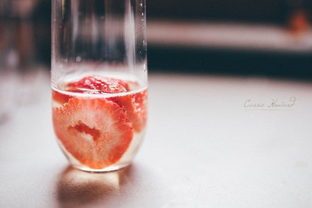 Fruity Champagne Drink Glass
