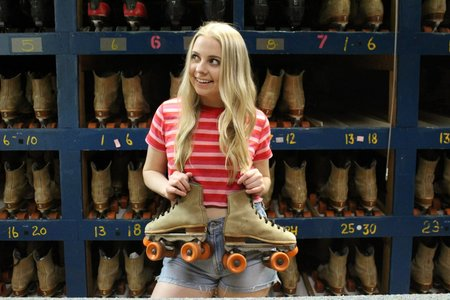 Celina Timmerman-Girl With Skates Smiling