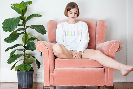 Kristen Bryant-Thinking In A Lala College Sweatshirt