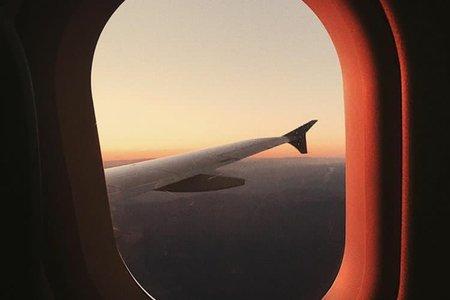 Travel Airplane Sky Sunset