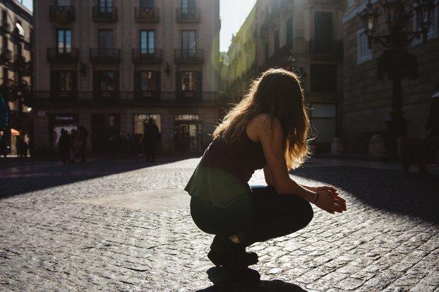 Cameron Smith-Spain Barcelona Abroad Europe Street Buildings Girl City Sun Hair