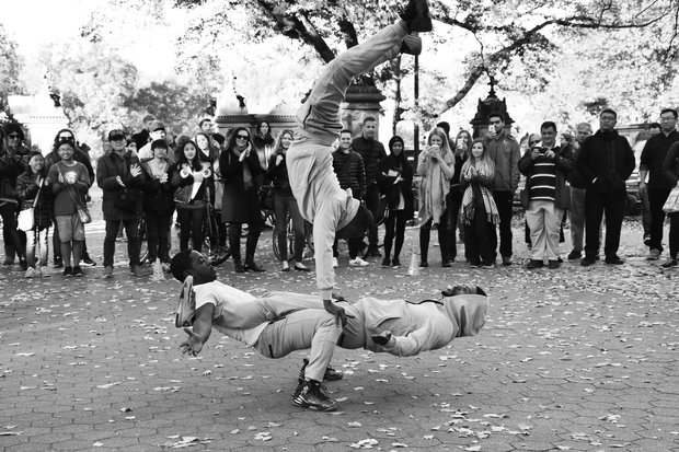 Street Dancing In The Park B&W 3