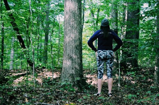 Celina Timmerman-Girl Hiking Or Taking A Break From Hiking