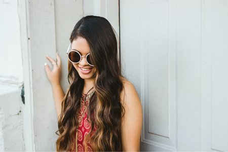 Kelly Marcelo-Girl Smiling Sunglasses