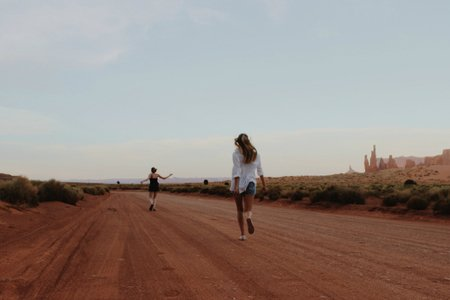 Anna Schultz-Best Friends Running Through Desert Adventure Road Trip