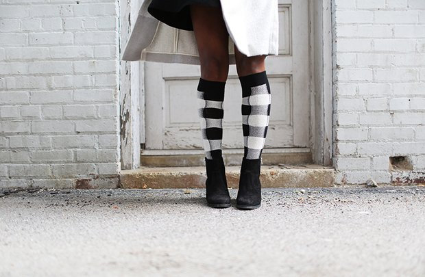 The Lalaplaid Socks Brick Wall