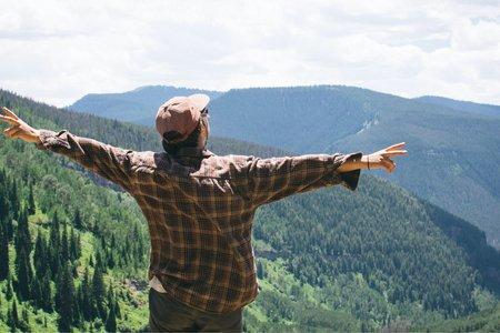 Cameron Smith-Girl Travel Colorado Hiking Peace Trees Mountains