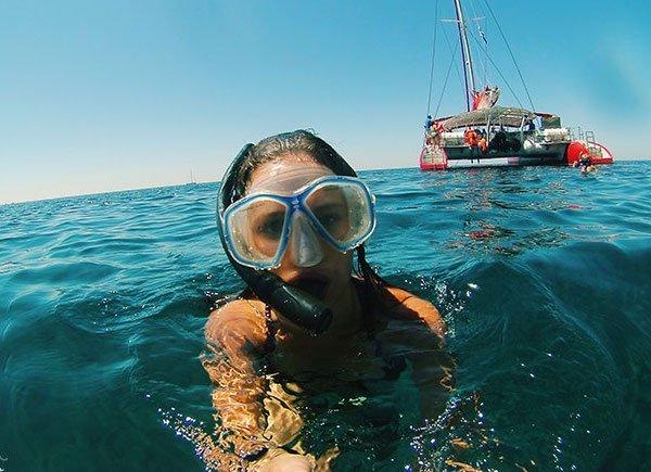 Meredith Kress-Snorkel Selfie In Ocean