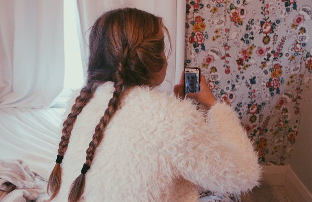 Anna Schultz-Girl In Braids Taking A Selfie