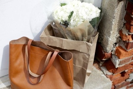 Dimi Boutselis-Bag Fashion Style Flowers Boho Minimal White Brick