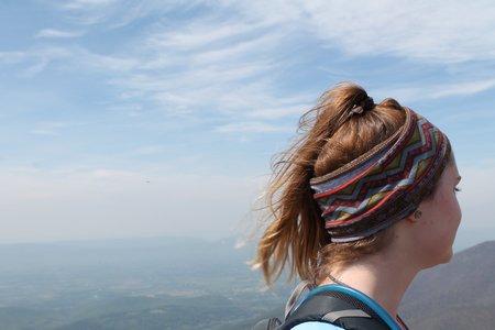 Girl Hiking Fun Headband Ponytail Adventure Camp Original