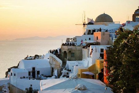 Greece Santorini Travel Adventure Sunset